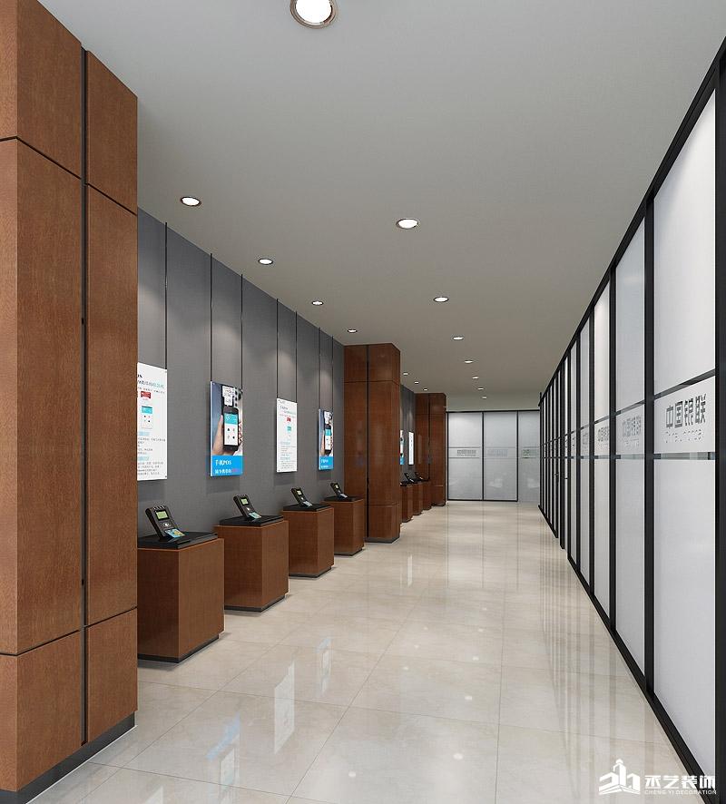 中国银联办公楼BOB体育appios下载设计 通道设计效果