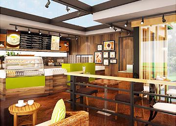 艾啡朵咖啡吧餐饮设计BOB体育appios下载,餐饮设计BOB体育appios下载